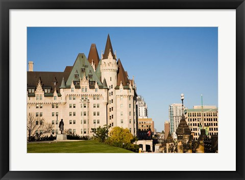 Framed Chateau Laurier Hotel in Ottawa Print