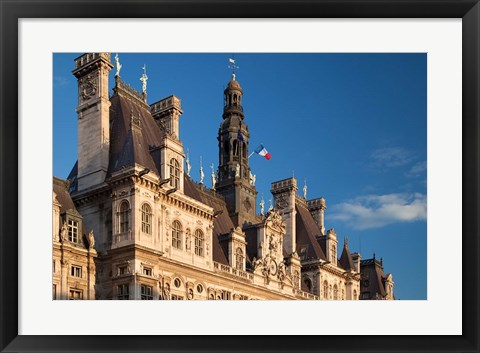Framed Ornate Hotel de Ville, Paris, France Print