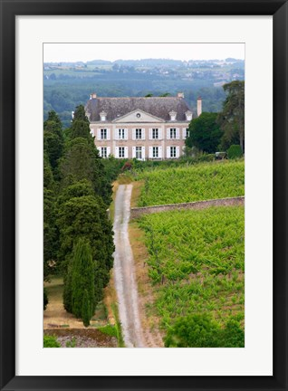 Framed Chateau de la Coulee de Serrant, Loire Valley Print