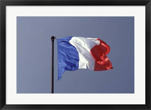 Framed French Flag Print