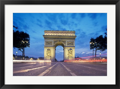 Framed Arc de Triomphe From Champs Elysees, Paris, France Print