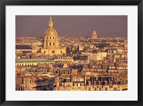Framed Les Invalides and Panthenon, Paris, France Print