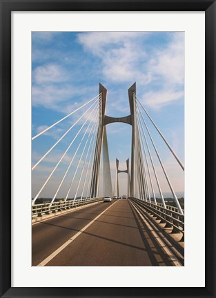 Framed Pont Tarascon Beaucaire Bridge, France Print
