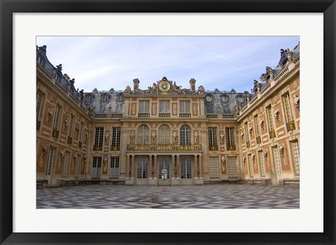 Framed Marble Courtyard, Versailles, France Print