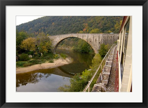 Framed Bridge at Douce Plage, Rhone-Alps, France Print