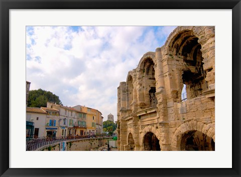 Framed Roman Amphitheatre and Shops, Provence, France Print