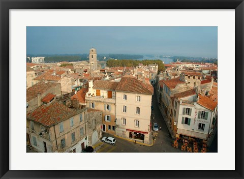 Framed Amphitheatre Tower, Arles, Provence Print