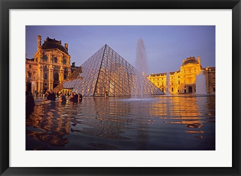 Framed Louvre Pyramid, Paris, France Print