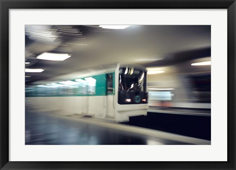 Framed Metro, Paris, France Print