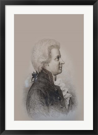 Framed Mozart Drawing Print