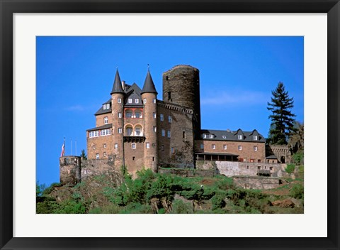 Framed Castle, Rhine River, Germany Print
