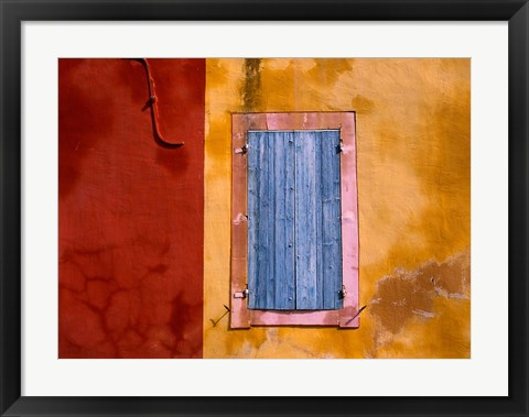 Framed Roussillon Blue Shutters Print