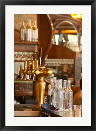 Framed Bistrot du Peintre, Art Nouveau Decor, Paris, France Print