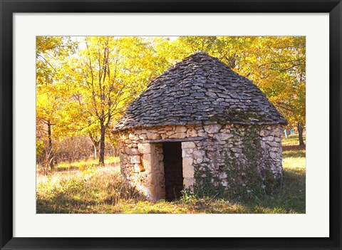 Framed Country Hut of Stone (Borie),  France Print