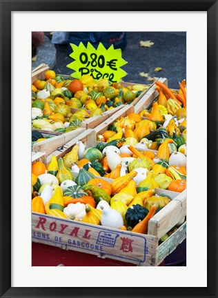 Framed Pumpkins For Sale at Market Stall Print