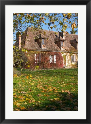 Framed Main Farmhouse in Traditional Dordogne Style Print
