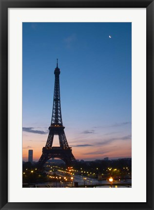Framed Eiffel Tower and Trocadero Square, Paris, France Print