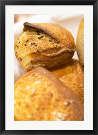 Framed Corsica Style Bread, France Print