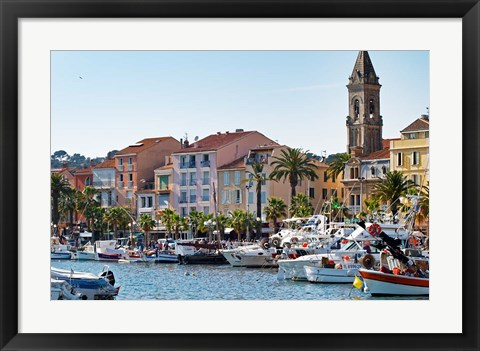 Framed View of Harbour with Fishing and Leisure Boats Print