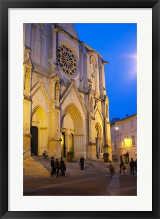 Framed Ste Anne Cathedral, Montpellier Print