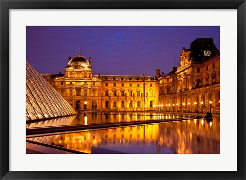 Framed Musee du Louvre, Paris, France II Print
