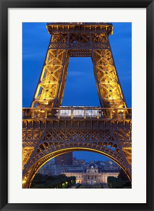 Framed Eiffel Tower, Ecole Militaire, Paris, France Print