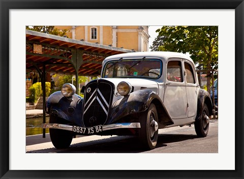 Framed Classic Citroen Avante car, Provence, France Print