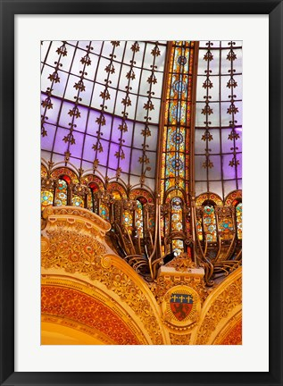 Framed Ornate Dome over Printemps Gallerie Print