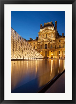 Framed Courtyard of Musee du Louvre Print