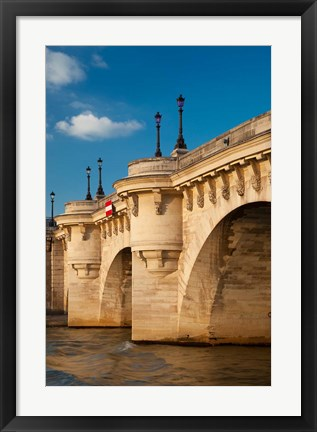 Framed Pont Neuf over the River Seine Print