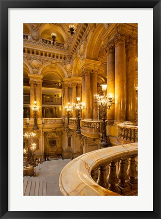 Framed Interior of Garnier Opera House Print
