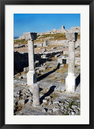 Framed Byllis Archeological Site Print