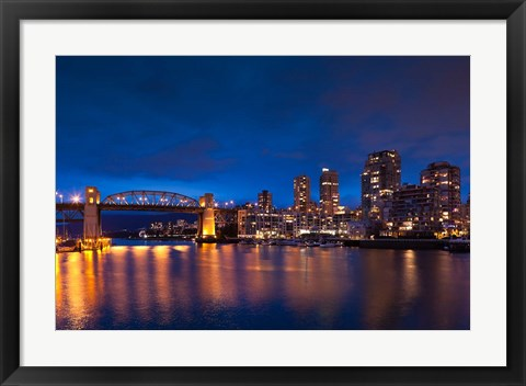 Framed Burrard Street Bridge Print