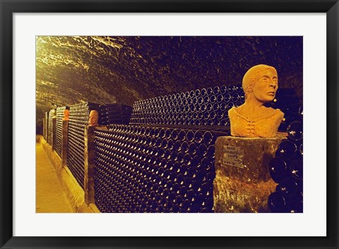 Framed Sculptured Heads in Cellar, Thummerer Winery Print