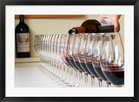 Framed Wine Glasses Ready for Tasting Print