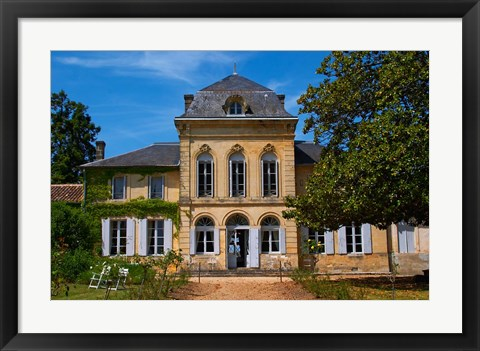 Framed Chateau de Haux Premieres, Bordeaux, France Print