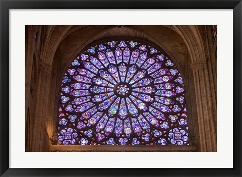 Framed Interior of Notre Dame Cathedral, Paris, France Print