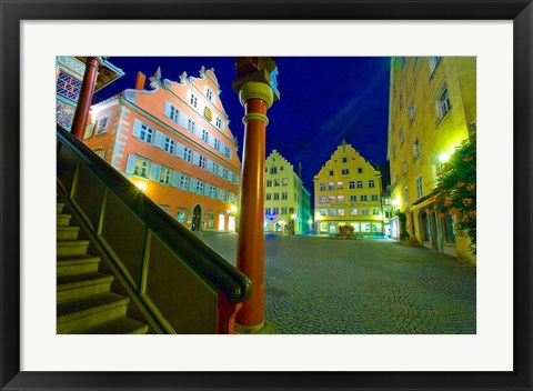 Framed Lindau Island at Night Print