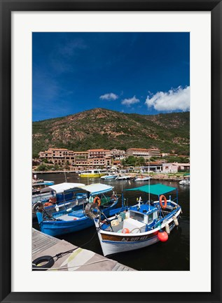 Framed Town Harbor of Porto Print