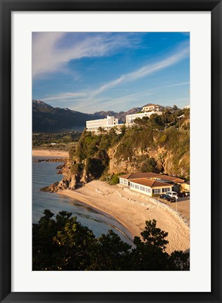Framed Beach and Hotels at Sunset Print