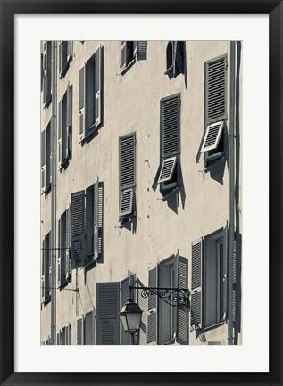 Framed Details of a Building in Corsica Print