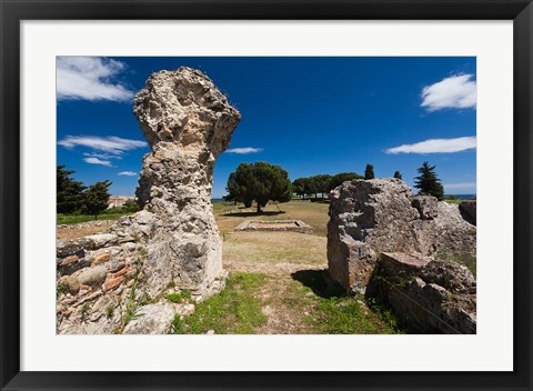 Framed Greek and Roman Ruins, Aleria Print