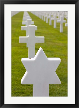 Framed American Cemetery and Memorial, Normandy Print
