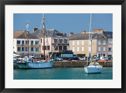 Framed Saint Vaast La Hougue, Normandy, France Print