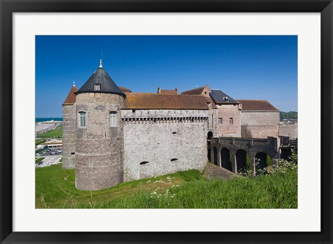 Framed Dieppe Chateau Musee Castle Print