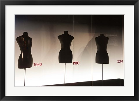 Framed Mannequins in The Museum of Lace and Fashion Print