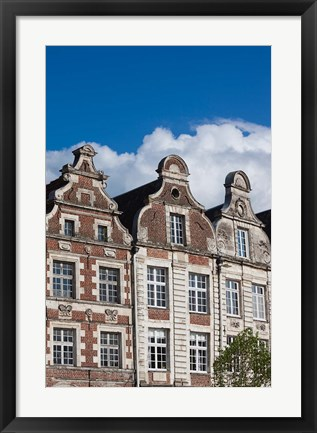 Framed Grand Place buildings, Arras, Pas de Calais, France Print