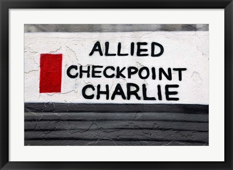 Framed Checkpoint Charlie of the Berlin Wall Print