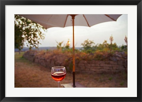 Framed Summer in Burgundy Print