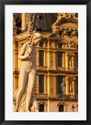 Framed Statue in Jardin des Tuileries, France Print